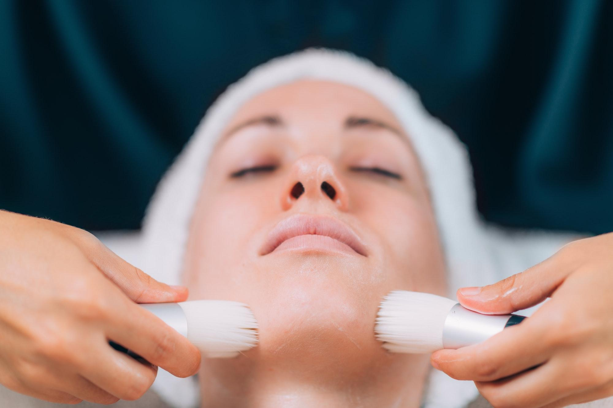 Cleaning Face for Cosmetic Treatment